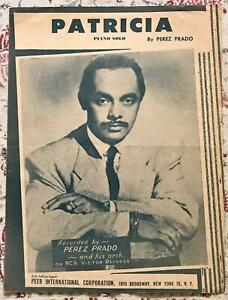 Patricia 1958 Sheet Music Piano Solo Mambo Perez Prado   eBay