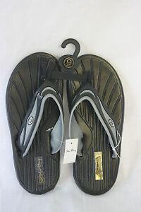 Sandals-STAR-Bay-Sandals-Black-amp-Silver-Rubber-NEW-SZ-12