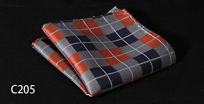 Check Colors Men Silk Satin Handkerchief Pocket Square Hanky Wedding Party