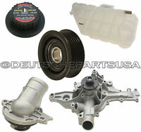 Mercedes W163 Ml320 Ml350 Expansion Tank Cap Water Pump Pulley Thermostat Kit