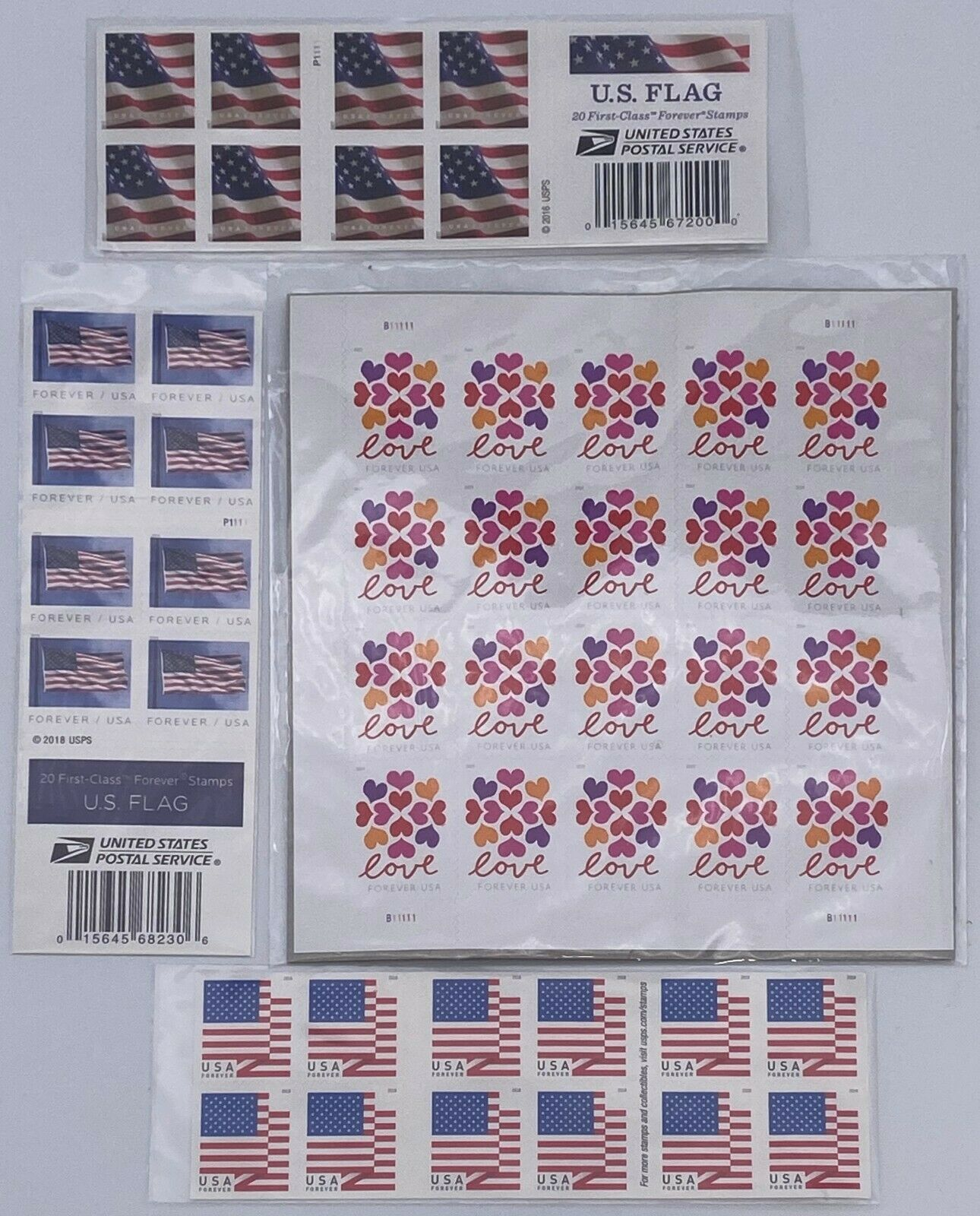 2017 US Flag Postage Stamps Roll of 100