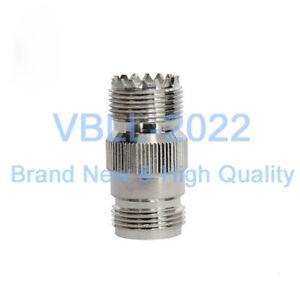 50X-N-Female-to-UHF-SO-239-SO239-Female-Jack-RF-Coax-Straight-Adapter-Connector