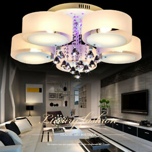 Image Is Loading Modern Crystal Ceiling Light Pendant Chandelier 3 5