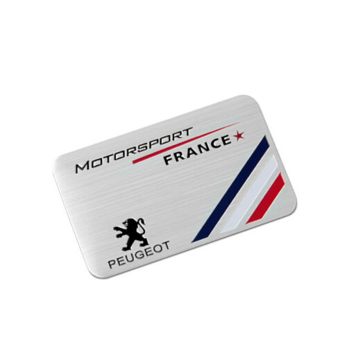 Aluminum Car Badge Sticker Emblem Side Decal Accessories Fit for Peugeot