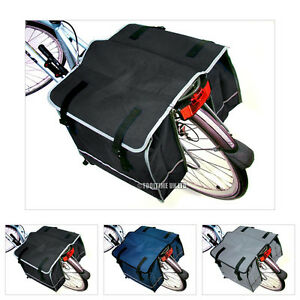 DOUBLE-BICYCLE-CYCLE-PANNIER-BAG-REAR-BIKE-RACK-CARRIER-WATER-RESISTANT-NYLON