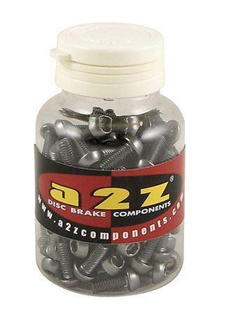 A2Z 7075 T6 Aluminium Water Bottle Cage Bolts 90 Pieces, orange