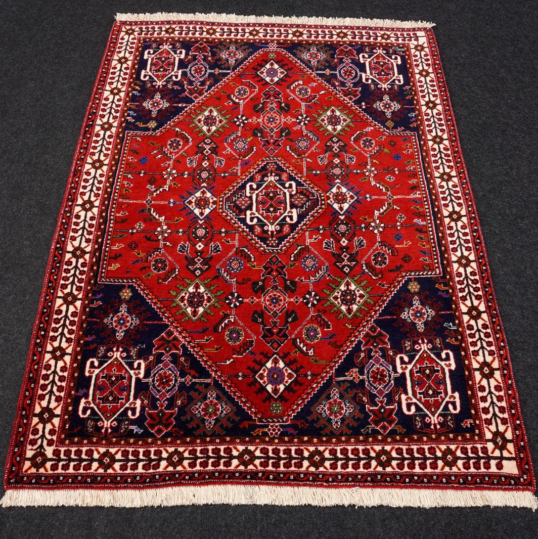 Orient alfombra roja de 155 x 117 cm azul alfombra persa oriental Carpet Rug tapis