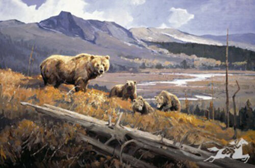 Fertile Valley by Luke Frazier Grizzly Bears Mountain Landscape SN  LE of  950