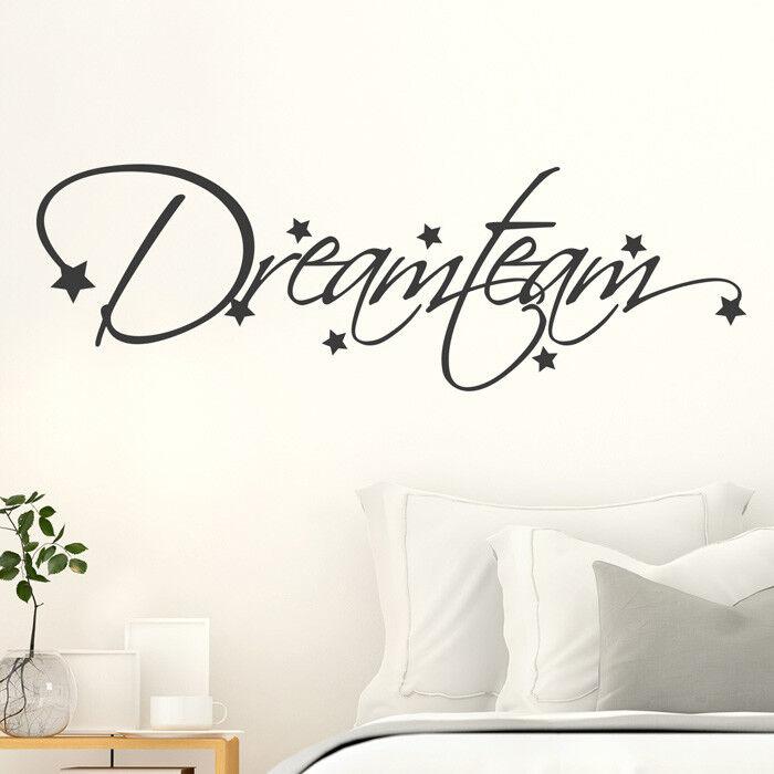 Tatuaggio Parete Proverbio  dreamteam , amore, stelle, stelle, stelle, adesivo muro, parete adesivo 188c5b