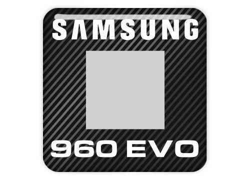 "Sticker Logo Samsung 960 EVO SSD 1/""x1/"" Chrome Effect Domed Case Badge"