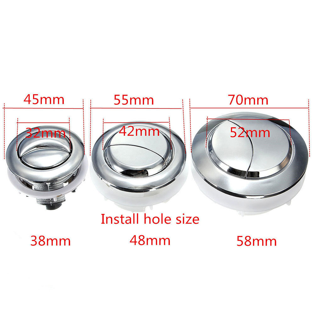 Plastic Dual Flush Toilet Water Tank Push Button With 2 Rod for38//48//58mm  ~G UL