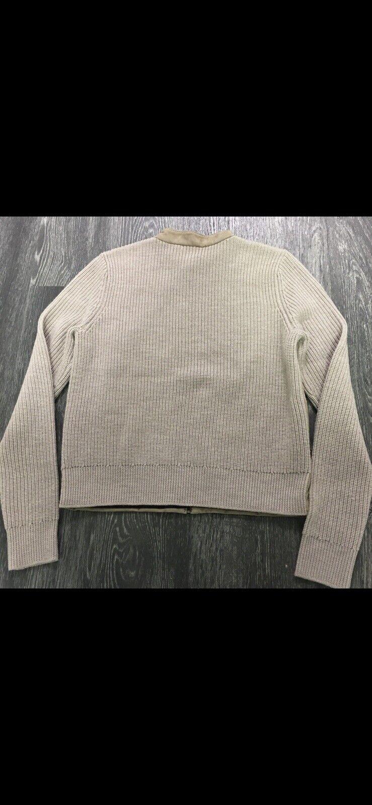 Tory Burch Wool/Suede Cardigan Blazer Size Small  - image 3