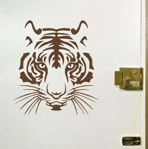 Cool Tiger Head Cat Face Vinyl Wall Art Room Sticker Animal Home Mural Decal