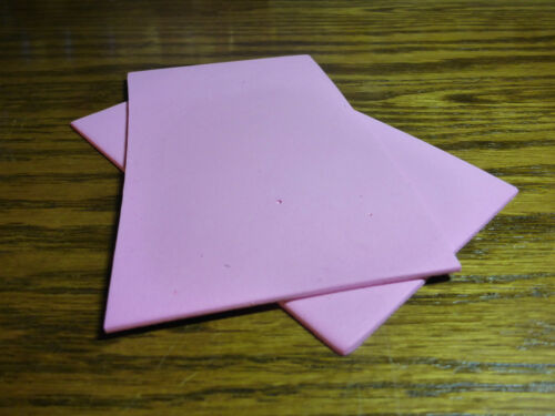 """2 x PINK CLOSED CELL FOAM SHEETS 5/"""" x 3/"""" NEW FLY TYING MATERIALS"""