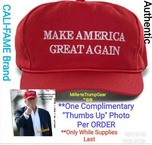 AUTHENTIC original Cali Fame Donald Trump make America great again MAGA cap hat