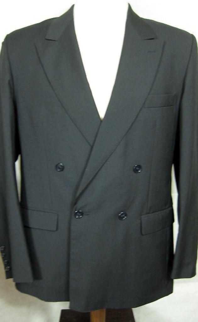 Vintage Ciseaux D'silver Paris Covett Laine + Mohair Db black Manteau Sport 42r