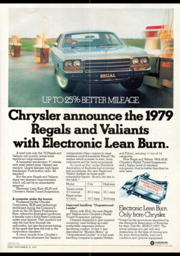 "1979 CM CHRYSLER VALIANT REGAL AD PRINT WALL POSTER PICTURE 33.1/""x23.4/"""