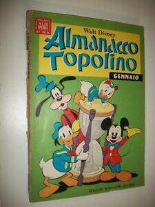 ALMANACCO-TOPOLINO-WALT-DISNEY-ALBI-D-039-ORO-N-1-UNO-MONDADORI-GENNAIO-1969-BN