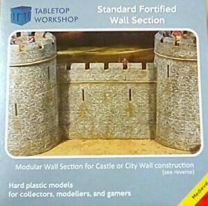 28mm-MEDIEVAL-FORTIFIED-CASTLE-WALL-TABLETOP-WORKSHOP-NEW