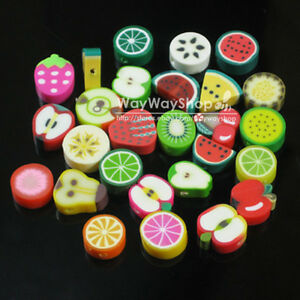 100-500-1000-X-Nail-Art-DIY-mixed-fimo-Polymer-Clay-Spacer-Beads-Hole-6mm-10mm