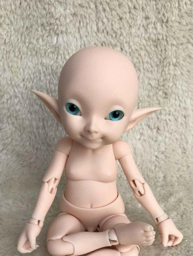 1 7 bjd doll- pupu beep mouth free eyes dollfie recast duende muñeca