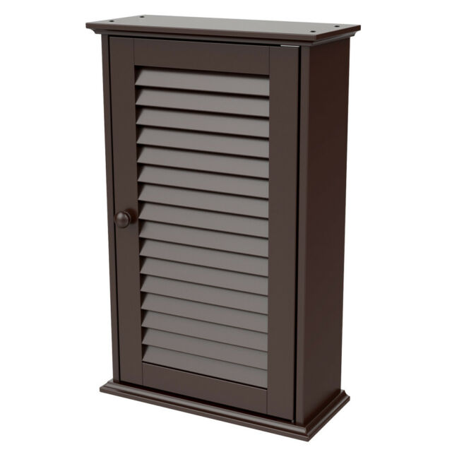 Bathroom Cabinets Over Toilet Kitchen Wall Mounted Medicine Louvered Door