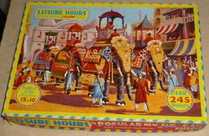 Vintage-Jigsaw-club-leisure-hours-State-Elephant-Procession