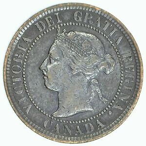 1900 H Victoria Large Cent Very Fine Bronze Canada One Cent VF Coin