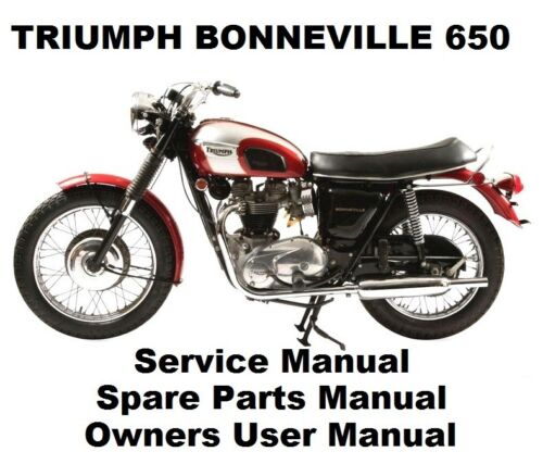 Triumph Bonneville 650 T120 Owners Workshop Service Repair