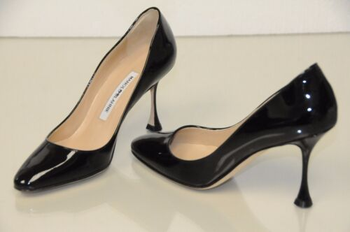4293773f181d 1 of 6Only 1 available New Manolo Blahnik BB Tucciosam Black Patent Leather  Shoes Pumps 40.5 41 41.5