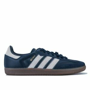 Hommes-Adidas-Originals-Samba-OG-FT-Lacets-Baskets-Decontractees-en-bleu