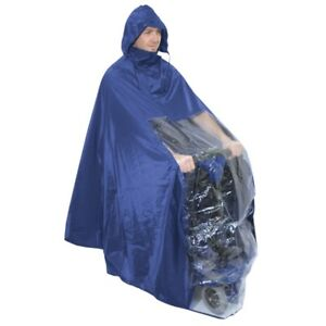 Image Is Loading 100 Waterproof Hooded All In One Poncho Rain