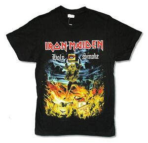 NEW /& OFFICIAL! Iron Maiden /'Holy Smoke/' T-Shirt