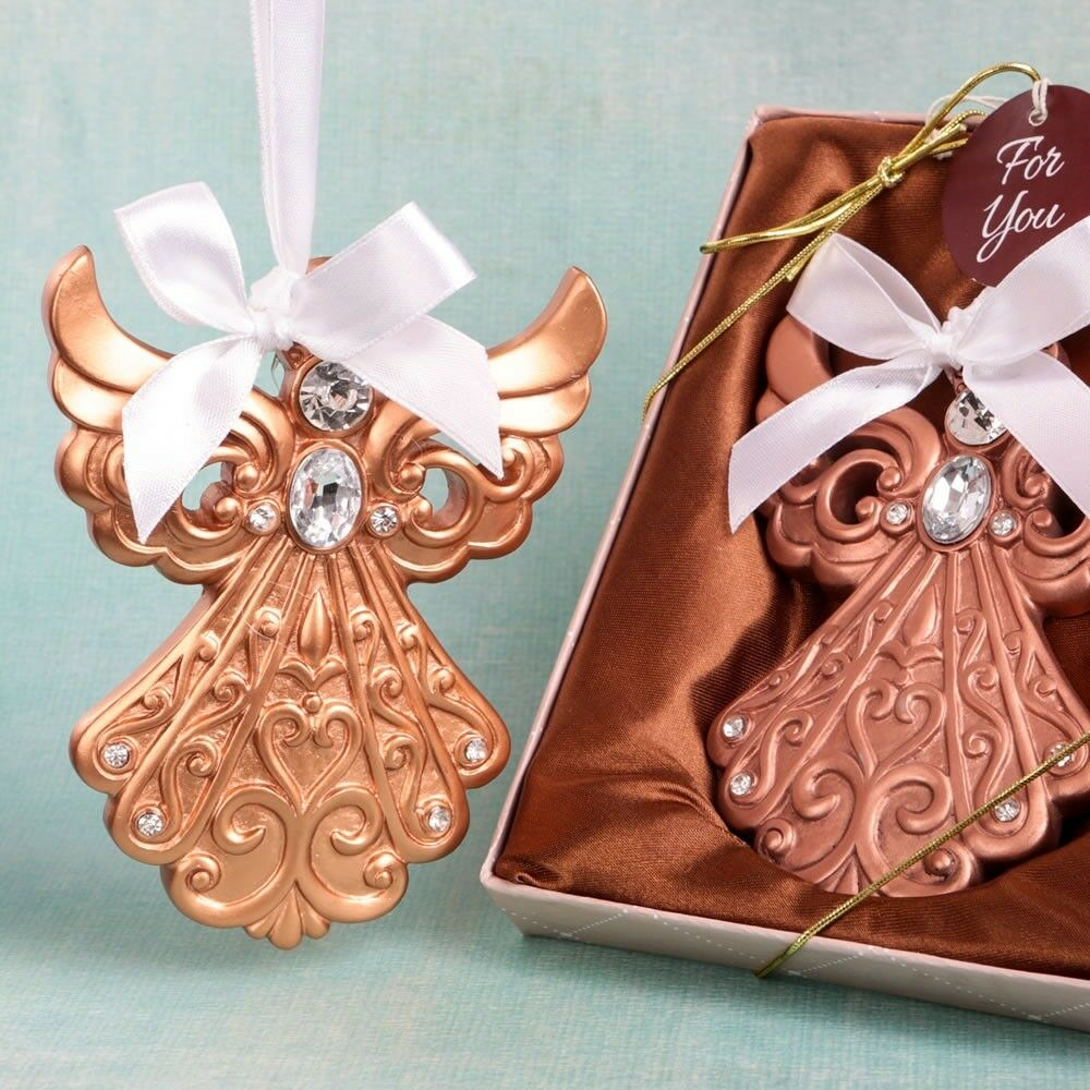 70 Rose or Angel Ornament Christening Baptism Shower Religious Party Favors