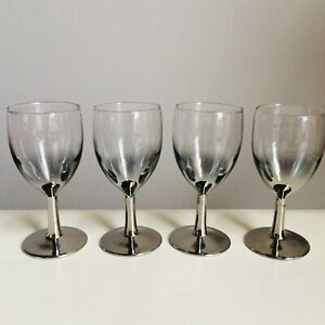 4-Vintage-Silver-Fade-Glasses-Wine-Port-Sherry-Mid-Century-Modern-France-5-high