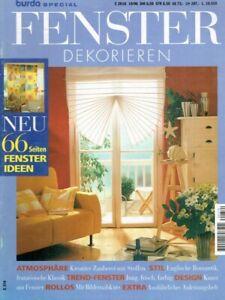 Details zu burda - E 374 FENSTER DEKORIEREN - - 66 Ideen - Rollos -  Dachfenster - Gardinen
