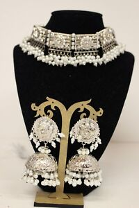 Pakistani-Traditional-Choker-Necklace-And-Earring-Jewellery-Set-Ethnic