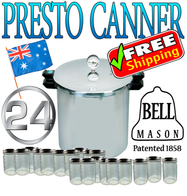 1 x Presto Pressure Canner Canning Cooker includes 24 Pint Preserving Jars