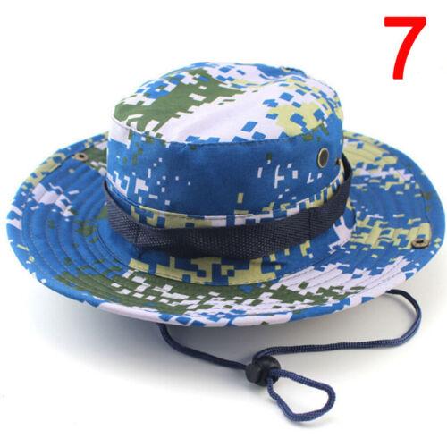 Bucket Hat  Hunting Fishing Outdoor Sun  Cap Wide Brim Military Unisex Sun XDUW