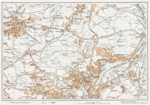 Huddersfield N Elland Yorkshire 1938 old vintage Map 44 eBay