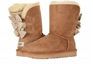 a2d5cacfe45 Details about UGG Australia Bailey Bow Short Ruffle Chestnut Boot Women's  sizes Style 1095794