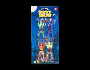 4 Stück Mix Fensterkletterer Sticky Ninjas Wall Tumblers Glibber Antistress Ball