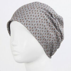 305f90440 Details about Summer Thin Soft Cotton Beanie Women Sleep Cap Chemo Hair  Loss Hats New SUM Grey
