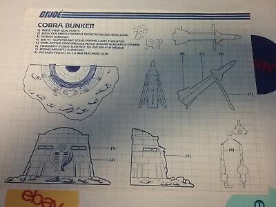 JOE Series 4 Vintage Blueprints Original Instructions COBRA BUNKER G.I