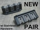 NEW Black 3 Place Boat Fishing Pole Rod Rack Storage Holder Foam Pair & Hardware