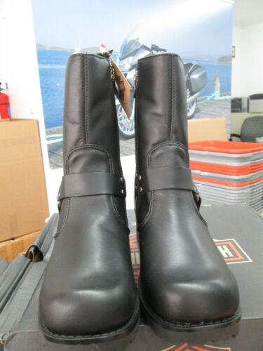 NEW Harley Davidson Women/'s Leather Boot Boots Shoes Medium Black Ashby