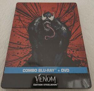 Steelbook-Venom-Combo-Blu-Ray-DVD-Neuf-Sous-Blister