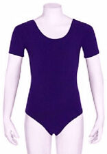 Mondor 496 Child's Toddler Extra Small (2-4) Violet Purple Short Sleeve Leotard