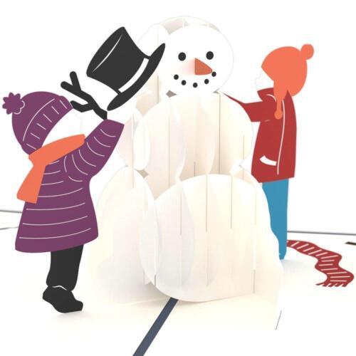 Christmas Card Snowman Card Love Pop LovePop Greeting Card- 3D Pop Up Card