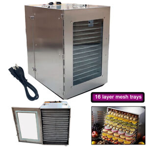 16-Layer-Mesh-Trays-Stainless-Steel-Food-Dehydrator-Fruit-Dryer-Vegetable-Jerky